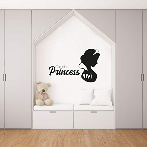 Our Little Princess - Snow White Silhouette Snow White And The Seven Dwarfs Disney Movie Vinyl Wall Art Wall Decal Wall Sticker Home Decoration Design Kids Girls Room Wall Décor Size (30x30 inch)