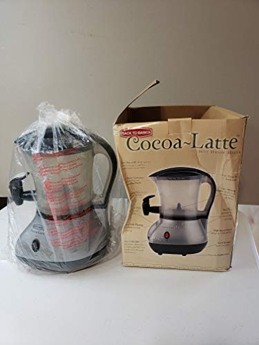 Back to Basics Cocoa Latte Hot Drink Maker - Brushed Chrome
