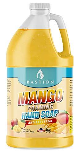 Antibacterial Hand Soap - Mango Foaming Hand Wash - 1/2 Gallon (64 oz.) Bulk. Refill Jug. Mango Scented. Non-toxic. Made in the USA.
