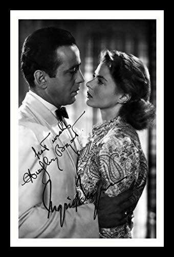 WS Ingrid Bergman - & Humphrey Bogart - Casablanca Signiert und gerahmt Foto