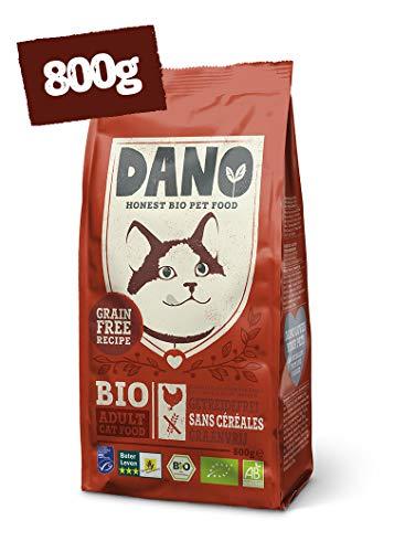 DANO Nourriture sèche pour Chats Bio (Poulet Sec et Hareng, 800 g)
