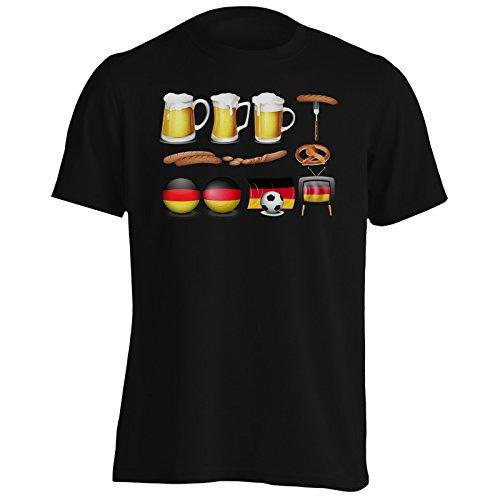 INNOGLEN Bandera Alemana del fanático del fútbol Camiseta de los Hombres v606m