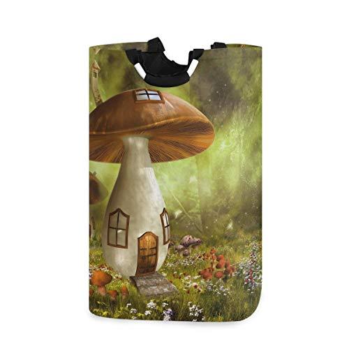 Mushroom Magischer Wäschekorb Eimer faltbar schmutzige Kleidung Tasche Wascheimer Spielzeug Aufbewahrung Organizer für College Schlafsäle, Kinderzimmer, Badezimmer