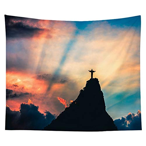 Tela de fondo de estilo nórdico, tapiz de Jesús cristiano, decoración del espacio de cabecera familiar, tapiz de tela de fondo a1 150x200cm