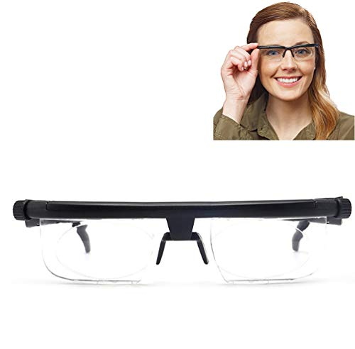 Einstellbarer Fokus Lesebrille -6D Bis + 3D Dioptrien Variable Objektivkorrekturbrillen Computer Lesen Driving Unisex-Brillen