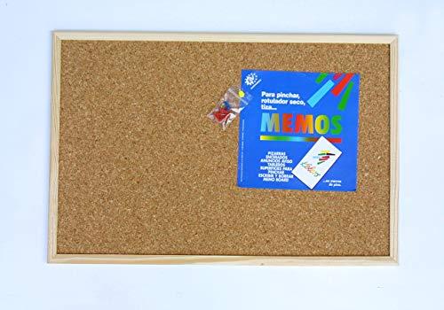 Tablero de corcho con marco de madera (40X60)