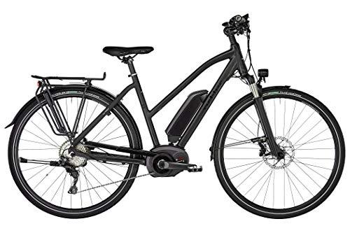 Ortler Bozen Premium Trapez Damen Black matt Rahmenhöhe 45cm 2019 E-Trekkingrad