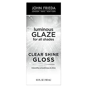 John Frieda Luminous Glaze Clear Shine Gloss  Anti-Fade/Color Enriching/Safe Color Treated  For All Hair Shades Unscented 6.5 Fl Oz