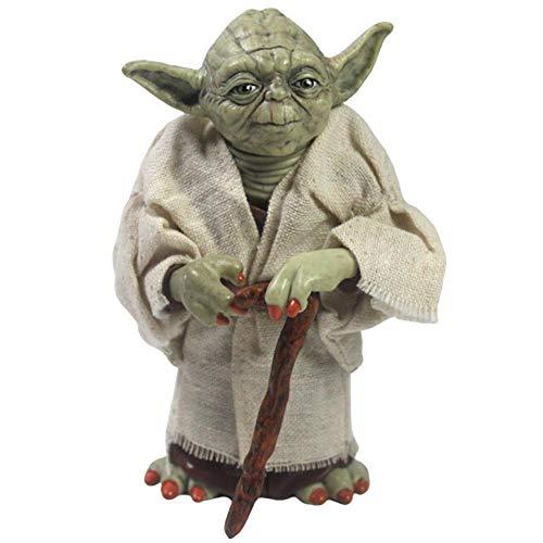 BAS Figura De Acción Maestro Yoda Estatua De Star Wars con Ropa Reemplazable Regalos para Niños Adornos 13cm