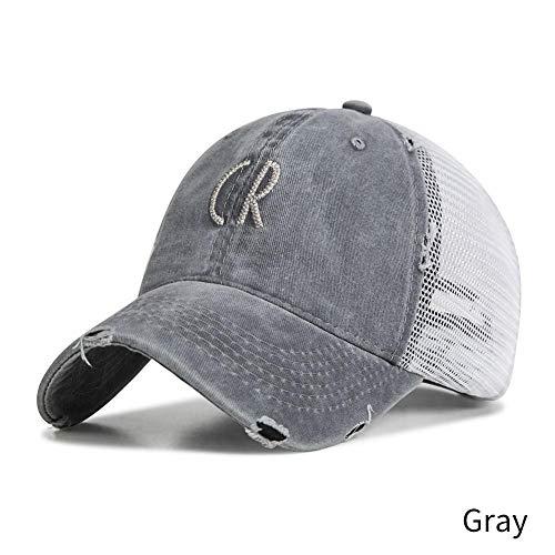 DGFB Baseballmütze-Sommer-Ineinander Greifen-Hysteresenhüte Casquette Stickerei-Buchstabe Bedeckt Knochen 5 Farbvatihut Mit Einer Kappe