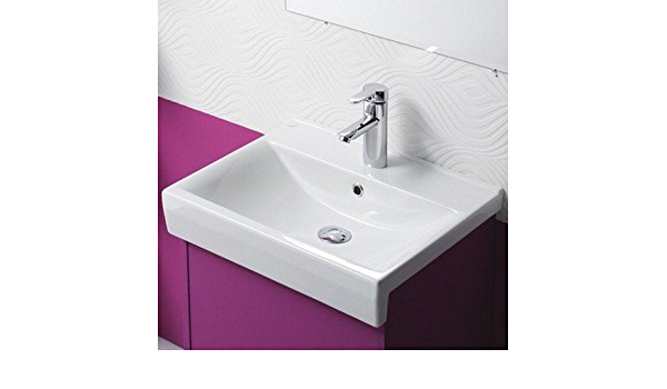 Cerastyle By Nameeks Riva B Ceramic Rectangular Drop In Bathroom Sink With Overflow Buy Online At Best Price In Uae Amazon Ae