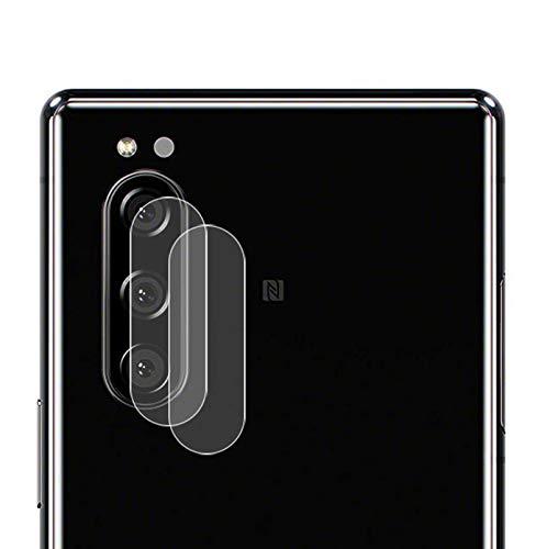 NOKOER Kamera Panzerglas Kompatibel für Sony Xperia 5, [2 Stück] Ultradünnes Gehärtetes 2.5D Kamera Schutzglas, 360 Grad Schutzkamera- Transparent