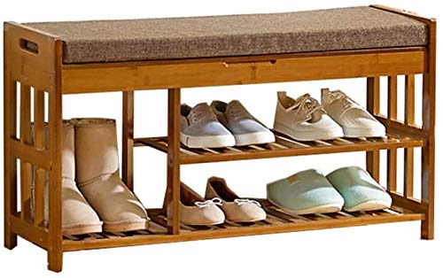 Pared pintura Zapatero Zapato a Prueba de Polvo despacho de casa compartida Voltear Almacenamiento Doble Botas Zapatero Esponja Pad 90x30x50cm Banco Zapato Taburete Cambiar Zapatos