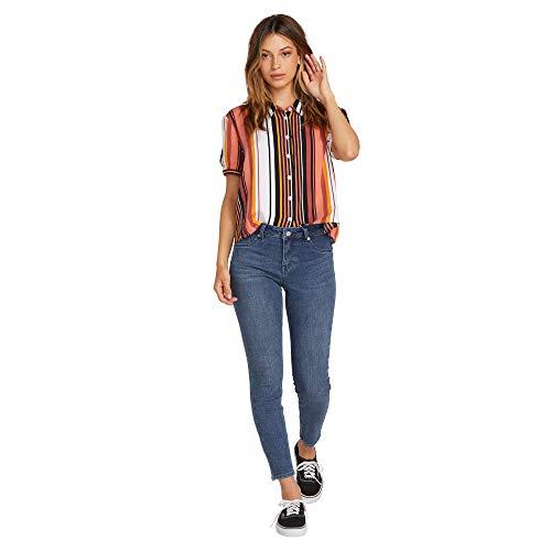 Volcom - Pantalones vaqueros para mujer - Azul - 32 US