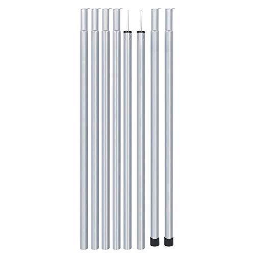Kuuleyn Varilla de Soporte para Carpa, 8PCS 1.8m Acero portátil Resistente a...