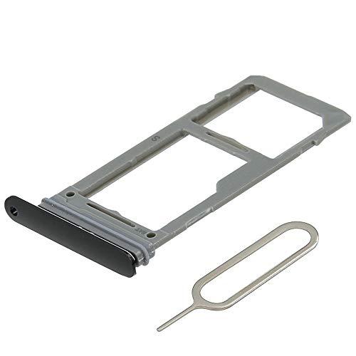 MMOBIEL Bandeja de Tarjeta SIM/SD Compatible con Samsung Galaxy S9 G960 / S9 Plus G965 (Negro) Incl. Sim Pin