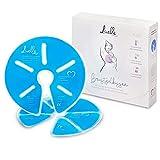 Livella Brustgelkissen 3in1 Kühlkissen & Wärmekissen für die Brust & Stillzeit - Anwendbar mit Milchpumpe - Entspannend & Milchflussanregend - Thermopads 2 Stück & 2 Schutzvlies