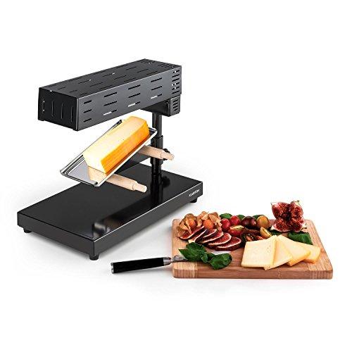 Klarstein Appenzell 2G Schweizer Raclette Grill - Käse-Raclette, Tischgrill, Standgerät, traditionelles Käseschmelzen, Leistung: 600 Watt