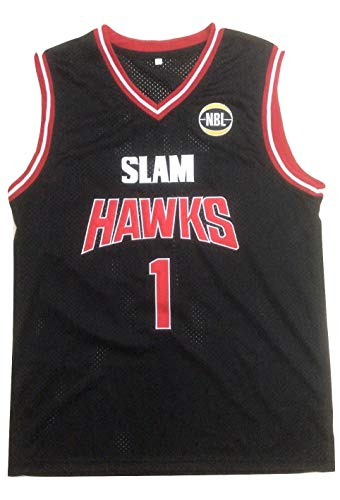 L Ball AU Hawks Stitch Black Basketball Jersey (34)