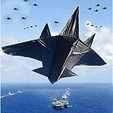 XiaoOu Cometas para Adultos 2m avión Grande Carrete de Cometas Juguetes para Volar Cometas para niños Accesorios para Cometas paracaídas Kitesurf Beach Kite foradult, Cometa con línea de 100m