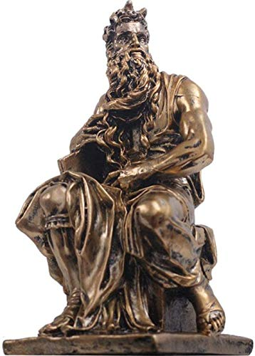 OFJM Skulptur Dekorationen Hauptdekorationen Altgriechische Thales Charakter Harz Handwerk Retro Schreibtisch Thales Milletus