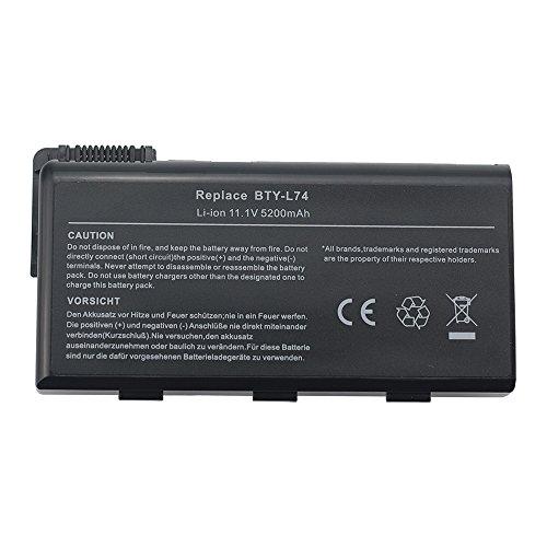 5200mah Laptop Akku für MSI A5000 A6000 A6005 A6200 A7200 CR500 CR600 CR610 CR620 CR700 CX600 CX605 CX610 CX620 CR630 CX700 CX500 BTY-L74 BTY-L75 BTYL74 BTYL75 MS1682 Notebook Battery Batterie