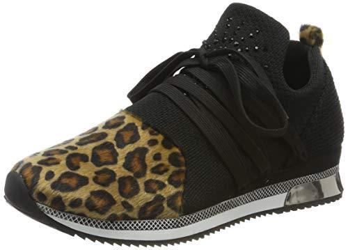 MARCO TOZZI Damen 2-2-23734-23 Slip On Sneaker, Schwarz (Black/Nat. Leo 031), 39 EU