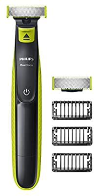 Philips OneBlade Hybrid Trimmer & Shaver with ; 1 Extra Blade Amazon Exclusive (UK 2-Pin Bathroom Plug) by Afdiscounts