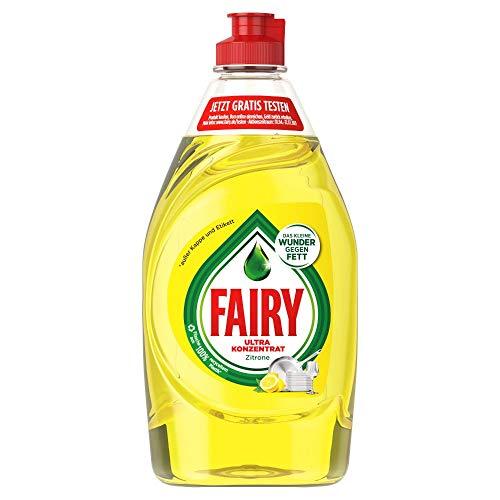 Fairy Spülmittel (4.5 L) Zitrone, mit effektiver Formel für sauberes Geschirr und Fettlösekraft (10 x 450 ml)
