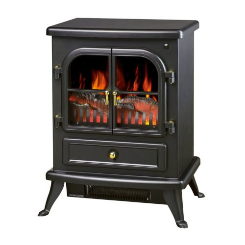 New 1500W Free Standing Electric Fireplace Adjustable Heater Flame Portable