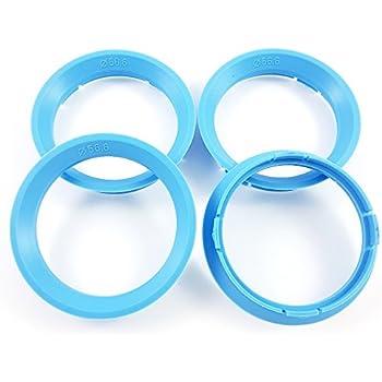 4 x Zentrierringe Kunststoff 63.3mm auf 57.1mm gr/ün