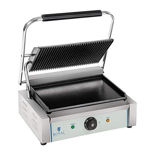 Royal Catering - RCKG-2200 - Piastra panini - 1 x 2.200 Watt