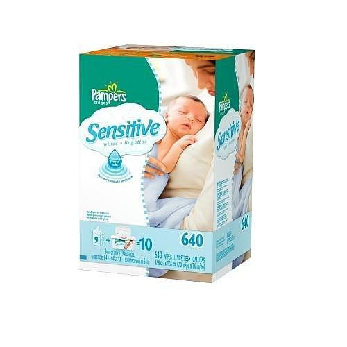 Toallitas para bebé Pampers Sensitive, 640.