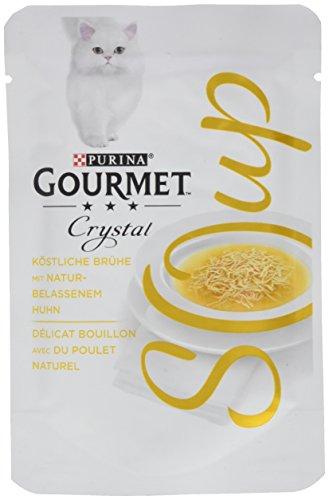 Purina Gourmet Crystal Soup para Gatos con Pollo Natural, 32 Unidades (32 x 40 g)