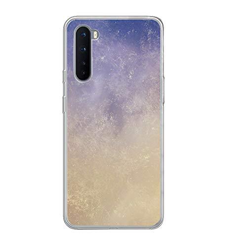 noband - Funda protectora para OnePlus Nord de silicona transparente para teléfono móvil con diseño de mármol y flores
