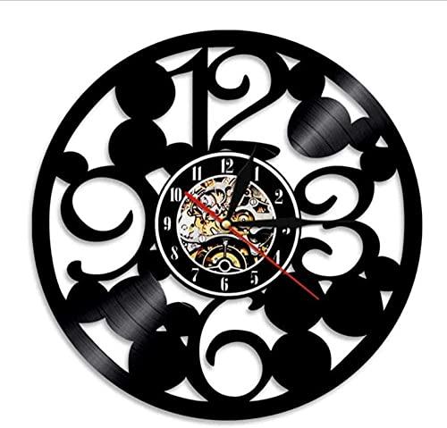Reloj de pared con números grandes, diseño contemporáneo de cocina, hecho de vinilo real, números grandes, reloj abstracto