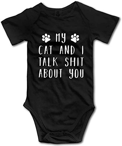 My Cats and I Talk Shit About You Romper Toddler/Infant Bodysuit Comfy Jumpsuit Clothes for Baby Black