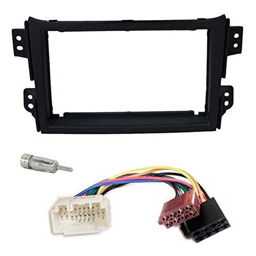 Sound-way 2 DIN Radiopaneel Frame Autoradio, Antenne Adapter, ISO Aansluitkabel, ondersteuning voor Opel Agila, Suzuki Splash, Suzuki Ritz