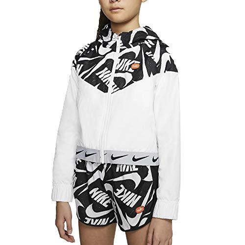 Nike G Nsw Wr Jacket Jdiy Hooded Veste pour fille S Blanc / noir