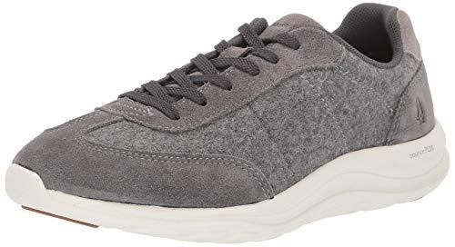 Hush Puppies Women's Cassidy Sneaker Oxford, Dark Grey Suede/Wool, 11 M US