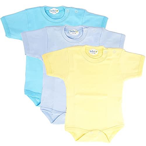 Body de manga corta para bebé y niño, para niños y niñas, de algodón 100 % natural Juego de 3 unidades 3-6 Meses