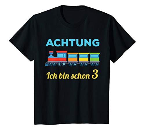 Kinder 3. Geburtstag 3-jähirger Junge 3 Jahre Zug Bahn Geschenk T-Shirt