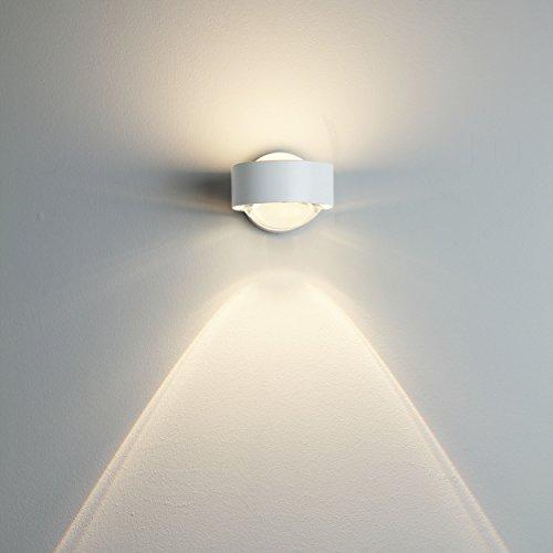 Puk Wall Wandleuchte weiß - Leuchtenkopf Linse/Linse