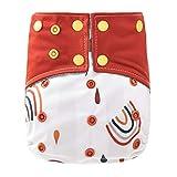 Maeau Cubrepañales para recién nacidos, 3 – 16 kg, lavable, para bebé, con botones de presión Patrón 18. Talla única