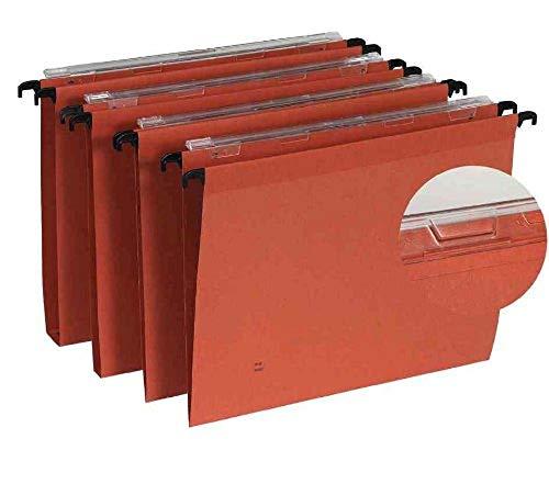 Esselte - Cartelle sospese linea Kori, materiale: carta da pacchi, confezione da 25 pezzi, colore: arancione