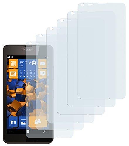 mumbi Schutzfolie kompatibel mit Microsoft Lumia 640 Folie klar, Bildschirmschutzfolie (6x)