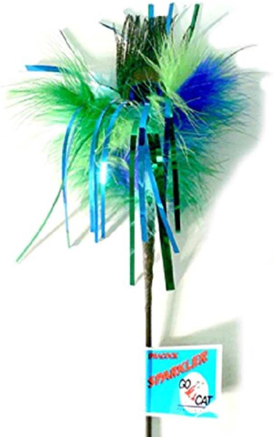Go Cat Long Peacock Sparkler  36  Cat Toy Teaser from The Maker of Da Bird