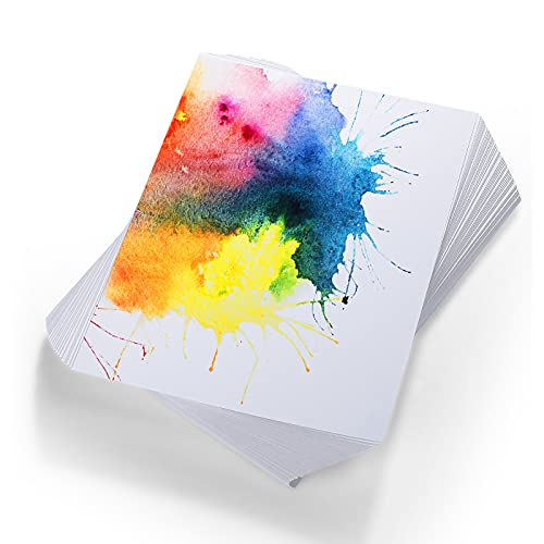 Watercolor Paper Cold Press Paper Pack for Watercolorist Students Beginning Artists, 6 by 9 Inches (120)