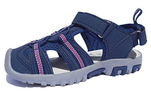 Kinder Geschlossene Sandalen Trekkingsandalen Wanderschuhe Sommer Strand Sandalen Jungen und Mädchen (34, Pink (Rosa))