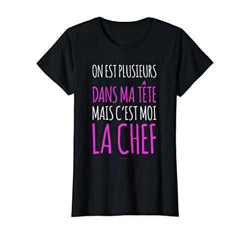 Femme Tee Shirt Femme Manche Courte Humour C'est Moi La Chef T-Shirt